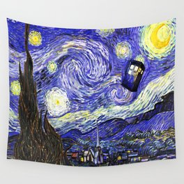TARDIS STARRY NIGHT Wall Tapestry