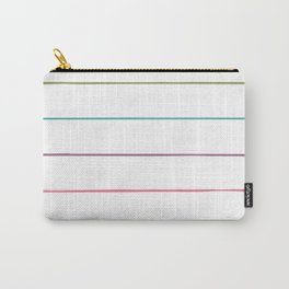Horizontal Rainbow Stripes Carry-All Pouch