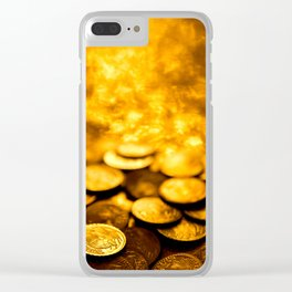 """Gold Coin Pulling Image...""""The Secret"""" If you see again and again, you can get it. Clear iPhone Case"""