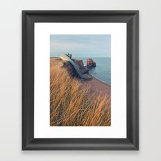 Eroding Landscape Framed Art Print