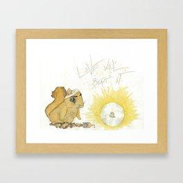 Love has it Framed Art Print