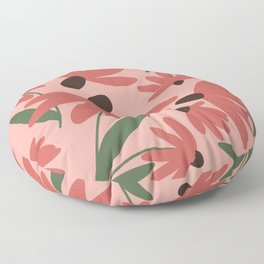 Floral Pattern in Autumn Blush Floor Pillow