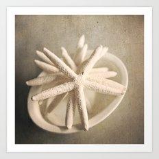 starfish in a bowl Art Print