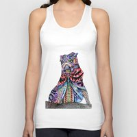 tatoo Tank Tops featuring Tatoo pug by Annie Liu