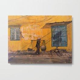 Hanoi Hawker Metal Print