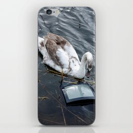 The swan and the tv iPhone Skin