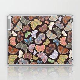 Moths Pattern - Dark Brown Laptop & iPad Skin