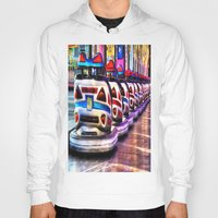cars Hoodies featuring Bumper cars by Simon Ede Photography