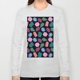 Low poly crystal pattern 1 Long Sleeve T-shirt