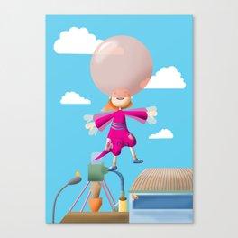 Bubble Gum Girl Canvas Print