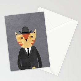 Ginger Cat in a Bowler Hat Stationery Cards