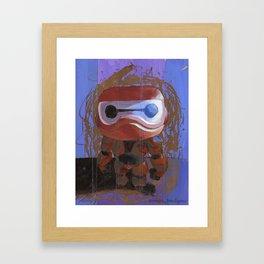 Acrylic Baymax scratch-off Framed Art Print