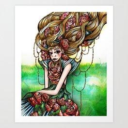 Astrology Illustration Series-Virgo Art Print