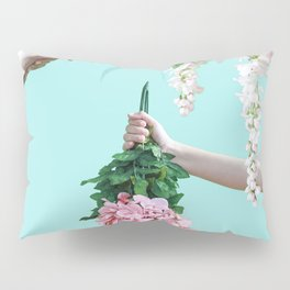 1992 Floral Episodes (Aqua) Pillow Sham