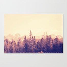 Faded Hills Canvas Print