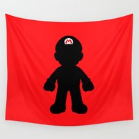 mario Wall Tapestries featuring Mario by Jessica Wray