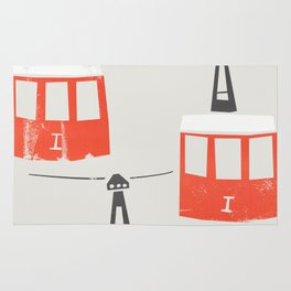 Barcelona Cable Cars Rug
