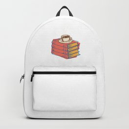 Books And Coffee Bookworms Readers Nerds Gift Backpack