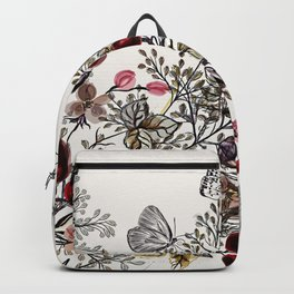 Watercolor floral background Backpack