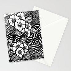 flowery zentangles Stationery Cards