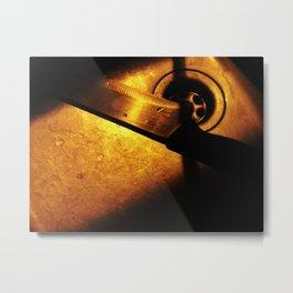 Knife in the night Metal Print