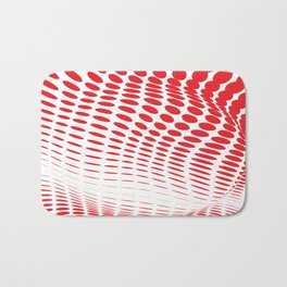 RED DOTS ON A WHITE BACKGROUND Abstract Art Bath Mat