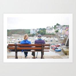 15. Fall in old love, Bretagne, France Art Print