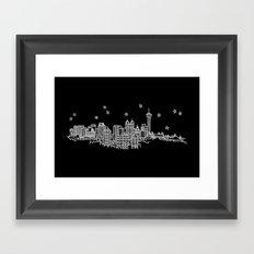 San Antonio, Texas City Skyline Framed Art Print