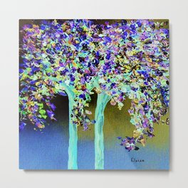 In a Blue and Purple World Metal Print