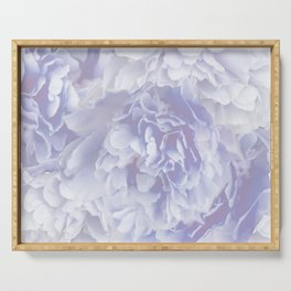 Flower Bouquet In Pastel Blue Color - #society6 #buyart Serving Tray