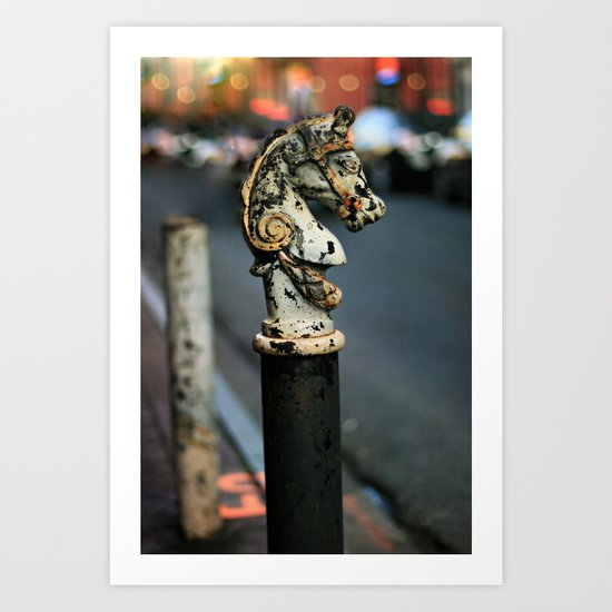 New Orleans Hitching Post #1 Art Print