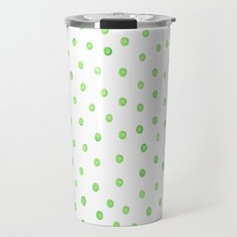 Pastel green polka dots Travel Mug