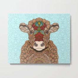 Frida the cow Metal Print