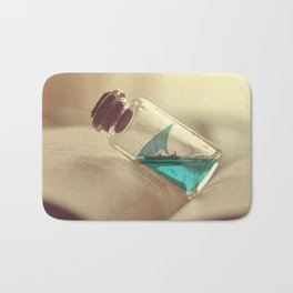 Boat in a bottle Bath Mat