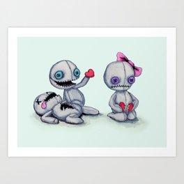 Plush Love Art Print