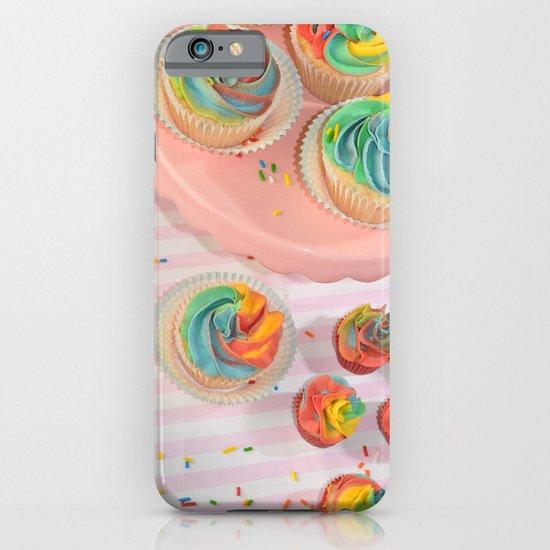 rainbow cupcakes iPhone & iPod Case