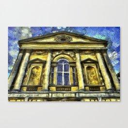 Roman Bath Van Gogh Canvas Print
