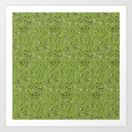 Flowercurtain Art Print