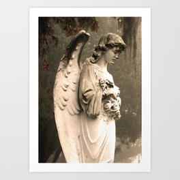 Savannah Cemetary Art Print