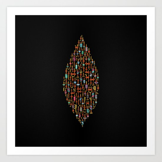 Candy Configured. Art Print