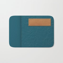 """A series of """"Covers for notebooks"""" . Blue texture . Bath Mat"""