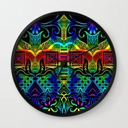 Rainbow tangling Wall Clock