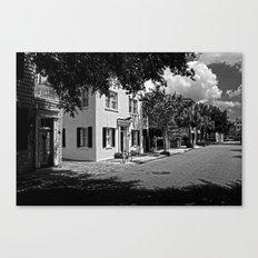 B&W Side Street Charleston S.C. Canvas Print