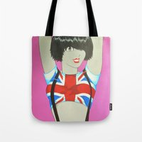 union jack Tote Bags featuring Union Jack by Redpencil