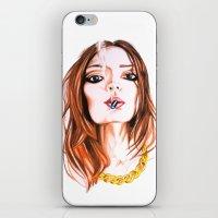 cigarette iPhone & iPod Skins featuring E Cigarette  by Liz Slome
