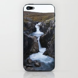Gufufoss's waterfall iPhone Skin