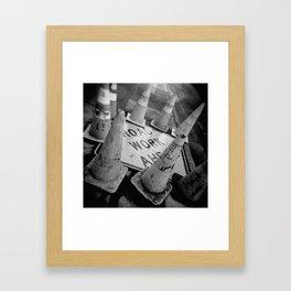 Holga Cones Framed Art Print