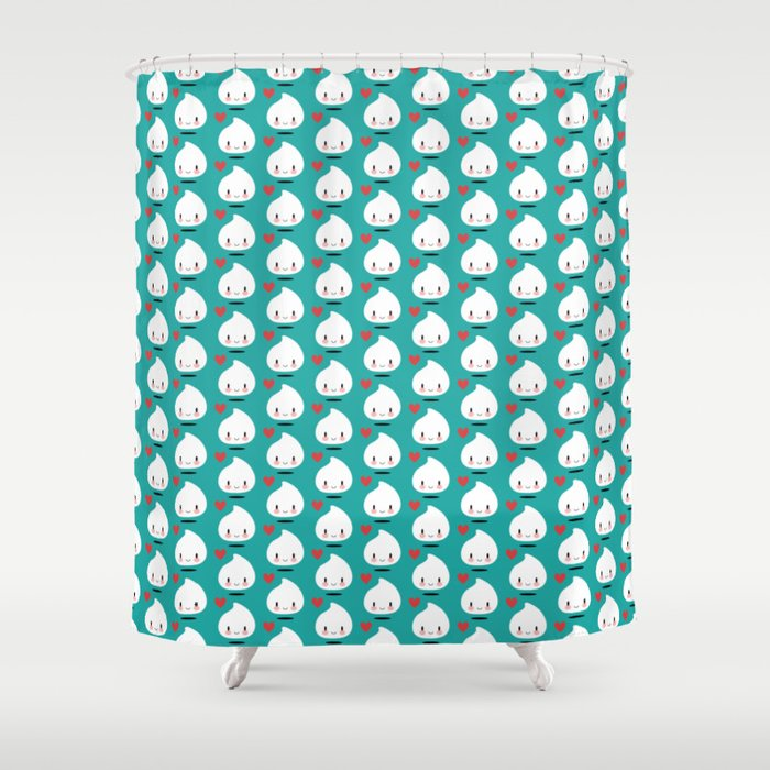 Gwenn the cute milk drop Shower Curtain
