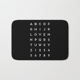 Letter Love - Black Bath Mat