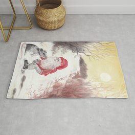Gnome and mouse Rug